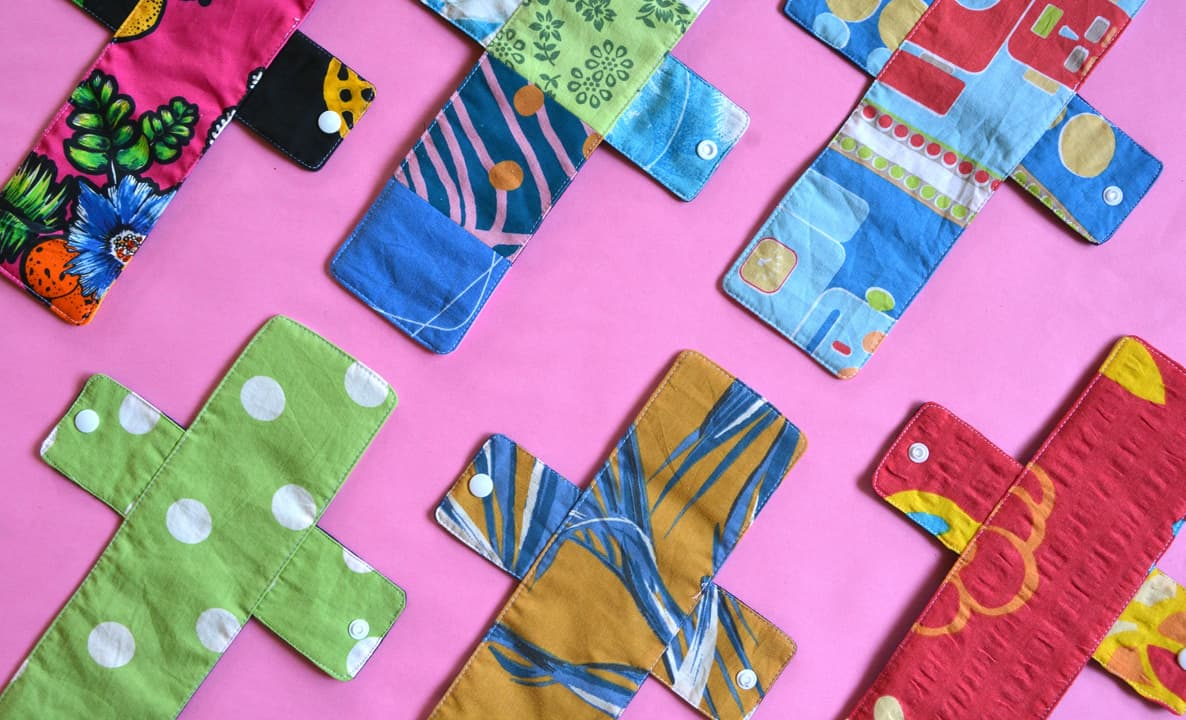 Reusable sanitary pads made from upcycled clothing fabric